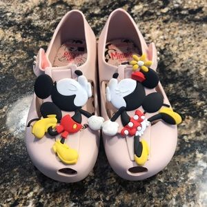 Mini Melissa Minnie & Mickey Shoes size 10